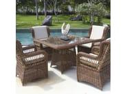 Square table EBONY 22551 - SKYLINE design