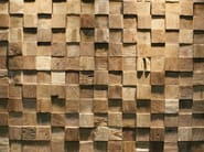 Reclaimed wood 3D Wall Tile SQUARE - Teakyourwall