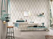 White-paste wall tiles with concrete effect SQUARE WALL Visone - Impronta Ceramiche by Italgraniti Group