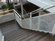 Expanded metal Stair railing Stair railing - METAL DEPLOYE