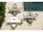 Square steel garden table STAR | Square table - EMU Group S.p.A.