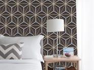 Geometric panoramic wallpaper STEILA - Inkiostro Bianco