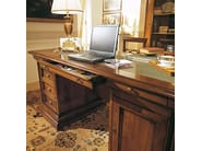 Rectangular solid wood office desk with drawers STILE | Writing desk - Arvestyle
