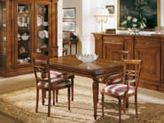 Extending solid wood table STILE | Rectangular table - Arvestyle