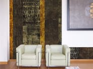 Writing wallpaper with marble effect STONE INSCRIPTIONS - Inkiostro Bianco