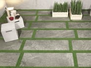 Indoor/outdoor full-body porcelain stoneware flooring STONE PLAN Luserna grigia - Italgraniti