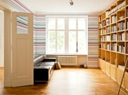 Striped non-woven paper wallpaper STRIPES #04 - EXTRATAPETE