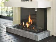 Gas 3-sided glass and steel fireplace STÛV B-100 H | 3-sided fireplace - Stûv