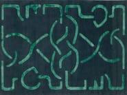 Handmade rectangular rug SUHAILAH - Deirdre Dyson