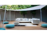 Low square painted metal coffee table SUNSET | Coffee table - Paola Lenti