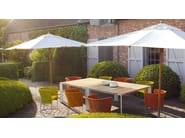 Rectangular wooden garden table SUNSET | Rectangular table - Paola Lenti