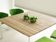 Square wooden garden table SUNSET | Square table - Paola Lenti