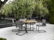 Cantilever garden chair with armrests SWAY | Chair with armrests - Gloster