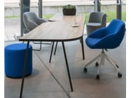 Swivel chair with casters BLUE CONFERENCE - SWIVEL - Palau