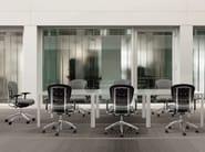 Swivel task chair with 5-Spoke base with armrests FLOW | Swivel task chair - Emmegi