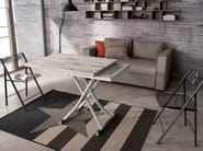 Height-adjustable rectangular coffee table SYDNEY LONG - Ozzio Italia