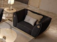 Fabric armchair with armrests SYMPHONY - INFINITY | Armchair with armrests - Bizzotto