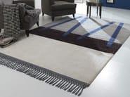Handmade fabric rug NEW FEELINGS T1405NVS - Besana Moquette