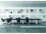 Executive desk with shelves T45 | Office desk with shelves - Quadrifoglio Sistemi d'Arredo