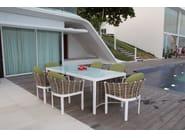 Tavolo da giardino rettangolare per contract OLIVIA 23251 - SKYLINE design