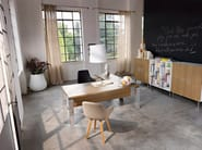L-shaped wooden executive desk TAO EXECUTIVE | L-shaped office desk - Sinetica Industries