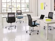 Task chair with 5-Spoke base with armrests FLAT01 | Task chair - Emmegi