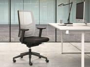Task chair with 5-Spoke base with armrests EM49 | Task chair with armrests - Emmegi