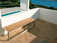 Teak garden bench NINIX | Teak garden bench - ROYAL BOTANIA
