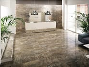 Porcelain stoneware wall/floor tiles with marble effect THRILL WALNUT - La Fabbrica