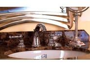 3 hole chrome-plated countertop washbasin tap TIFFANY | rubinetto per lavabo a 3 fori - GENTRY HOME