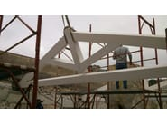 Timber truss and roof structure Timber truss - Progettoelleci by Lo Castro
