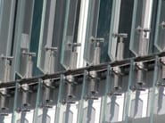 Motorized adjustable Glass and Stainless Steel solar shading TIME - GATTI PRECORVI