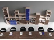 Modular wooden office shelving TITANO | Office shelving - Castellani.it