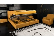 Leather storage bed with upholstered headboard TL 240 | Double bed - Tonino Lamborghini Casa by Formitalia Group