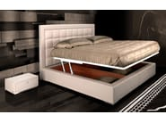 Leather storage bed with upholstered headboard TL 250 | Double bed - Tonino Lamborghini Casa