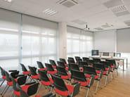 Sedia da conferenza impilabile con ribaltina 18MILA | Sedia da conferenza con ribaltina - Emmegi