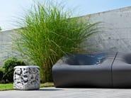 Low cement garden stool TRASH - SWISSPEARL Italia