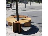 Steel and wood tree grill ALCORQUE CIRCULAR - LAB23