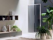Niche glass shower cabin with hinged door TRENDY - 7 - INDA®