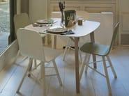 Square wood veneer table TRIA | Square table - Colé Italian Design Label