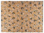 Rectangular rug with geometric shapes TRIANGLEHEX GOLD - Golran