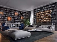 Sectional fabric sofa TRIBECA | Fabric sofa - Poliform