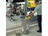 Waste bin for waste sorting TRIBIN SECURITY - LAB23