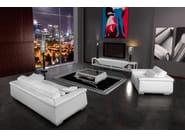 Low leather TV cabinet BOOSTER | TV cabinet - Tonino Lamborghini Casa by Formitalia Group