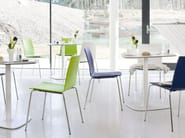 Stackable lacquered restaurant chair UPDATE_B | Lacquered chair - Wiesner-Hager