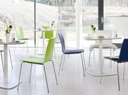 Sedia da ristorante impilabile laccata UPDATE_B | Sedia laccata - Wiesner-Hager
