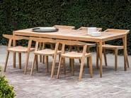 Rectangular teak garden table URBAN | Rectangular table - Feelgood Designs