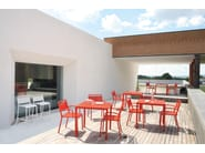 Sgabello alto da giardino impilabile in alluminio URBAN | Sgabello - EMU Group S.p.A.