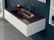 Lacquered wall-mounted vanity unit with cabinets V53 - Mobiltesino