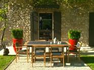 Extending teak garden table VALTECK | Table - Les jardins